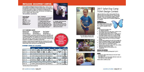 Trunkline Magazine Louisville Zoo Trunkline Magazine March 2017