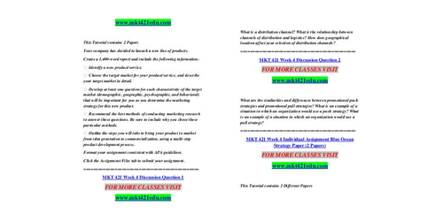 mkt 421 week 2 personal branding paper In addition, address the following information in your paper:  dentify the appropriate place and promotional strategy that should be used in the prepare a 15- to 20-minute oral presentation accompanied by 15- to 20-slide microsoft® powerpoint® presentation illustrating your marketing plan.