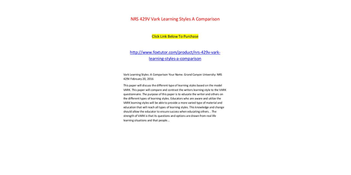 nrs 429v gcu papers Download: nrs 429v week 1 assignment: vark analysis paper we make available homework and exam solutions for students download: nrs 429v week 1.