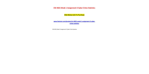 cyber crime assignment