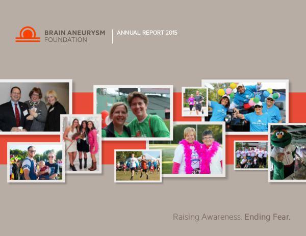 2015 Brain Aneurysm Foundation Annual Report 2015-Brain-Aneurysm-Foundation-Annual-Report