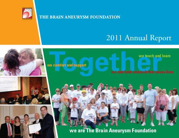 2011 Brain Aneurysm Foundation Annual Report 2011-Brain-Aneurysm-Foundation-Annual-Report