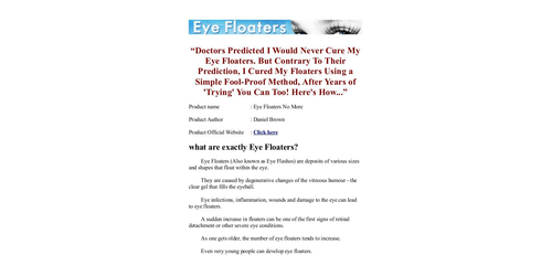 Eye Floaters No More PDF / eBook Daniel Brown Free Download Eye
