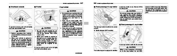 Subaru Outback Manuals 2015 Outback Owner's Manual