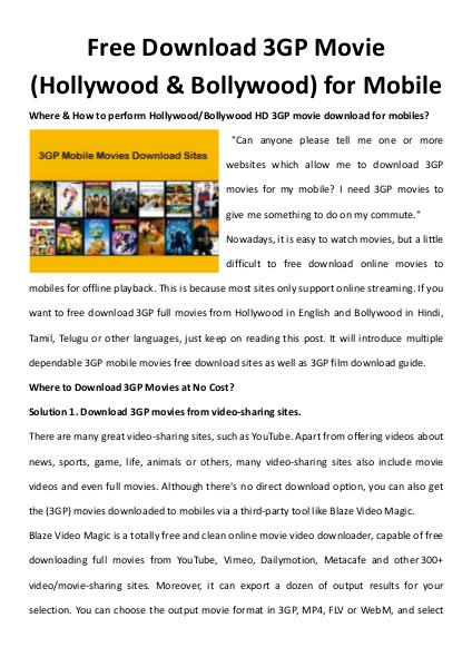 bollywood 3gp movie download