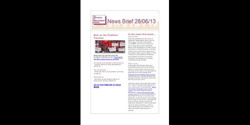 Weekly Employment Law News Briefs 280613