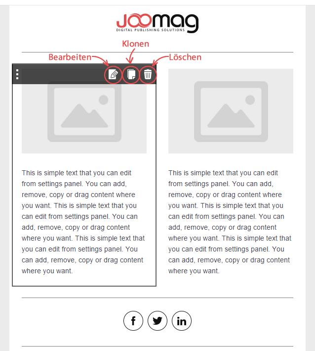 Content-Blöcke / Container in E-Mail Vorlagen bearbeiten, klonen und ...