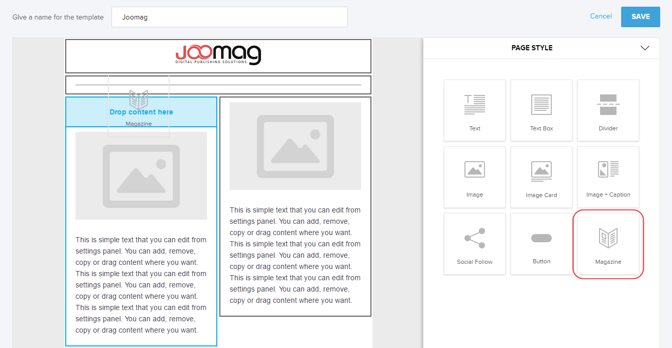 How To Insert A Magazine In The Mail Template Editor Joomag Help - Send mail template